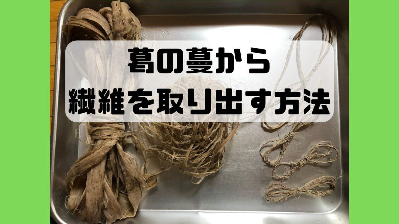 葛 クズ 蔓 繊維 糸 紐